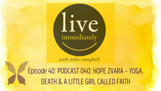 Live immediately: YOGA, DEATH & A LITTLE GIRL CALLED FAITH