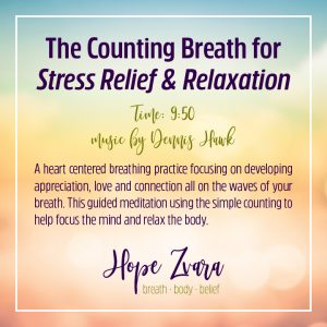 The Counting Breath for Stress Relief and Relaxation. Time 9:50