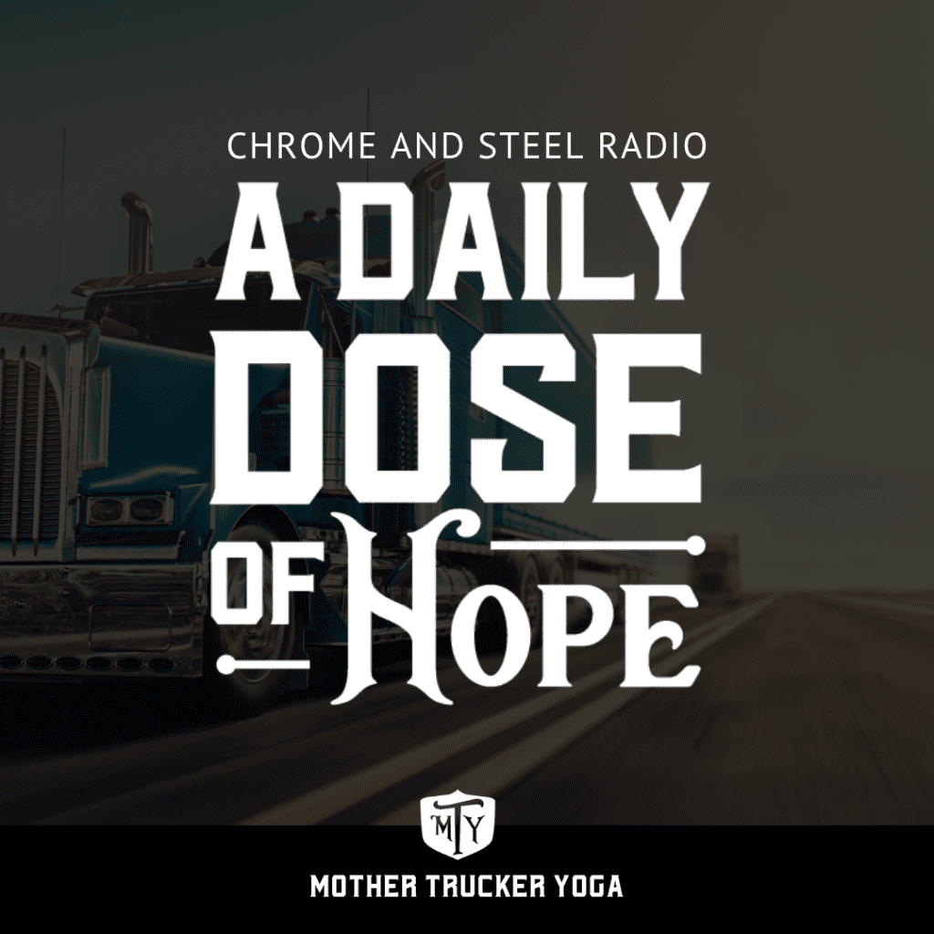 A Daily Dose of Hope Chrome and Steel Graphic